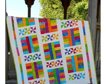 Baby Quilt Pattern - Layer Cake Pattern - Saturday In The Park - Hard Copy Version