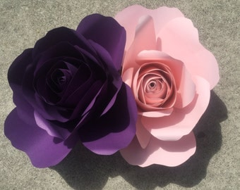 Giant paper roses in any color great for backdrops