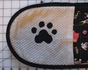 Quilted Hot Pad Cute Dog Pattern