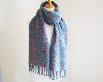Handwoven Long Scarf Fluffy Kid Mohair and Virgin Wool Made to order This item is Sold at KOBO, thank you!