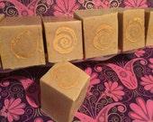 SALE ENDS SUNDAY Honey Oat Cakes  raw cacao shea butter wild African honey vanilla peru balsam coconut milk