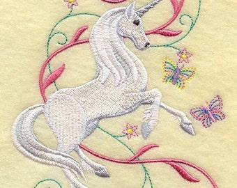 Unicorn Towel - Embroidered Towel - Flour Sack Towel - Hand Towel - Bath Towel - Apron - Fingertip Towel
