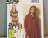 Butterick Sewing Pattern B6135 Ladies Pullover Top Draped Collar Size ZZ Large XLarge XXLarge