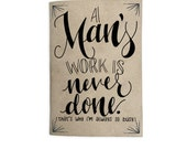 Funny Pocket Journal | Small Journal | Pocket Diary | Mini Journal Gift - A Man's Work