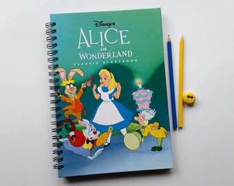 Alice in Wonderland, Recycled Book Journal, Notebook