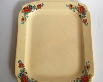 Vintage Serving Tray, Floral, Classic