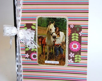 Upcycled Notebook, Journal, Horses