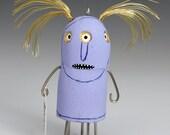 Original Mixed Media Sculpture Crazy Hair Anxiety