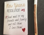 Resolution Card, Gift card set, Card For Friend, Snail Mail, Funny Greeting Card