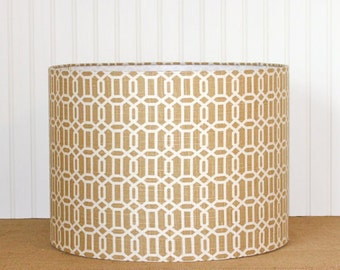 Geometric Drum Shade, Lamp Shade, Modern Lamp Shade, Caramel, Drum Shade, Pendant Shade, Lampshade, Modern Drum Shade, Table Lamp