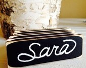 On SALE- 50 Rectangle Chalkboard Name Tags, Magnetic or Pin Name Badges, Reusable,--Perfect for Office Parties, Meeting, and Corporate Event