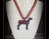 Rustic Metal Show Sheep Pendant With Cord