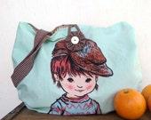 Vintage dapper boy market bag