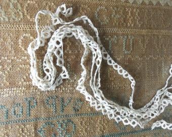 victorian antique handmade tatting lace