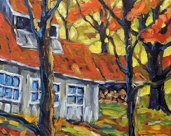 On Sale Sugar Shack Colors - mini Original Oil Painting created by Prankearts