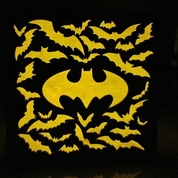 Batman 6 bat signal light box by BurntPixels on Etsy