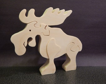wooden puzzle,wooden moose puzzle,wooden animal puzzle, wood puzzle