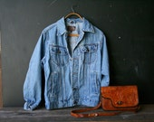 Lee Jeans Jacket Denim Coat Mens Small Womens Medium to Large Vintage From Nowvintage on Etsy