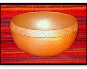 Hand Carved Bowl, Ceramic Serving Bowl, Salad Bowl, Fruit Bowl, Pasta Serving Bowl, Popcorn Bowl