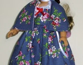 Colonial dress, 3 pc. fits American Girl 18 in. dolls. Created for Elizabeth or Felicity  No.686