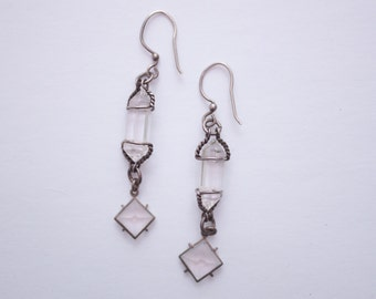 vintage crystal dangle earrings