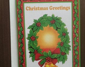 Vintage Christmas / xmas / holiday card - BUY 3 GET 1 FREE