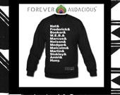 The EPITOME of an AUDACIOUS MAN - Malcolm X Nelson Mandela Marcus Garvey Dr King ( Sweatshirt for Men & Women - Size S-XXl ) Made To Order