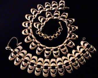 Vintage Early MONET Necklace and Bracelet Set