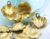 Raw Brass Leaf Dangle 18x18mm Stamping Findings - 8 .