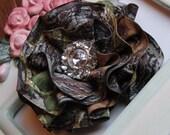 New Mossy Oak BREAK UP Camo Bling Large Flower Pin Clip Combo Prom Dresses Purses