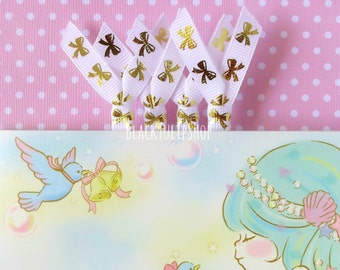 SHIPS APRIL 3rd - Planner Clips Paperclips Planner Accessories Planner Bow Clip Paper Clips Gold Bow Bookmarks Page Markers - 2pc or 4pc Set