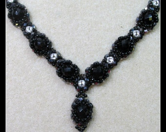 Halo Necklace PDF Beading Tutorial Pattern (INSTANT DOWNLOAD)