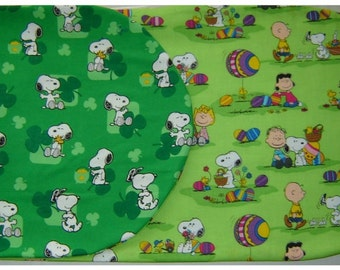 SNOOPY TABLE RUNNER Reversible St Patricks and Easter Themes