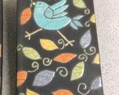 RESERVED for AMY. tile,handmade 3x6 raku fired art tile, wall art, home decor
