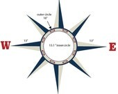 Custom Compass Reduced Wall Decal
