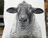 Sheep Tote Bag, Lamb, Knitting Bag