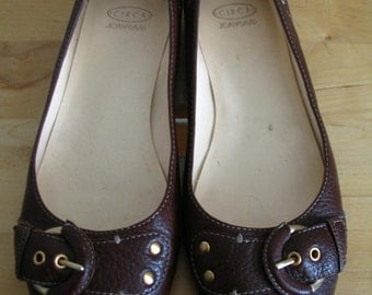 Circa Joan & David Brown Leather Ballet Flats Size 8.5 M