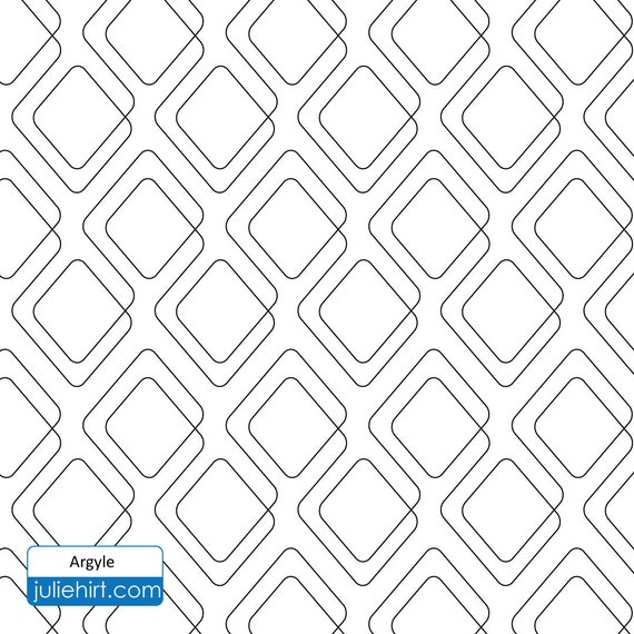 ARGYLE - Longarm Quilting Digital Pattern for Edge to Edge and ... : long arm quilting pantographs - Adamdwight.com