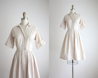 1950s fawn day dress