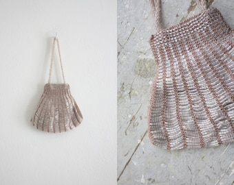 blush beaded bag