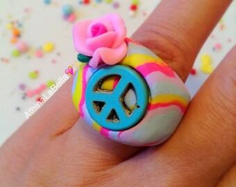 Peace Ring, Boho Ring, Music Festival Jewelry, Boho Jewelry, Peace Jewelry, Modern Hippy, Daisy Earrings, Flower Power