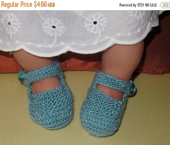 SALE 30% OFF Instant Digital File pdf download  knitting pattern - Baby High Front, High Back Shoes pdf download booties knitting pattern