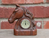 Vintage Resin Horse Thermometer Equestrian Decor