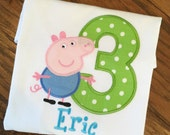 Boys George the Pig, George the Birthday, Peppa Pig, Boys Pig Birthday
