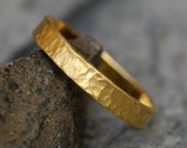 22k Recycled Yellow Gold Wedding Band- Custom Made Ring