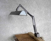 Vintage Industrial Workbench or Drafting Table Lamp. Circa 1960's.