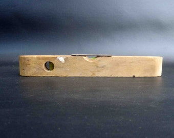 Antique Small Wooden Bubble Level