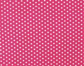 Spot On Hot Pink Polka Dot Robert Kaufman Fabric, Choose your cut
