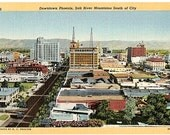 Vintage Arizona Postcard - Downtown Phoenix (Unused)