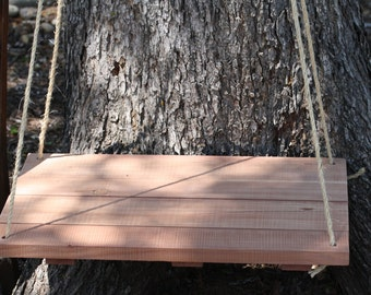 "Floating Shelf, Hanging Shelf, reclaimed Texas Cedar,Large 24"" x 15.75"" or Small 12""x12"" rustic home decor, bedside table"